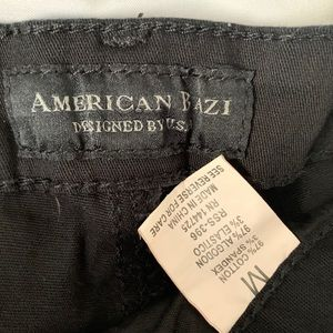 American Bazi Shorts - Black high rise distressed denim short shorts